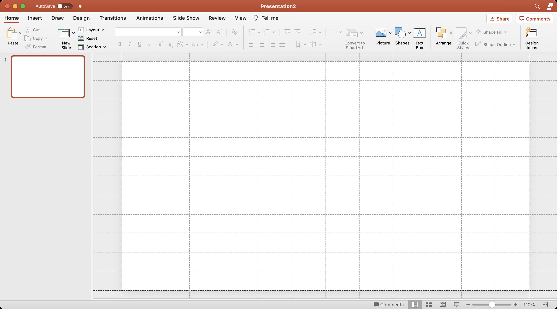 12 колоночная модульная сетка в PowerPoint